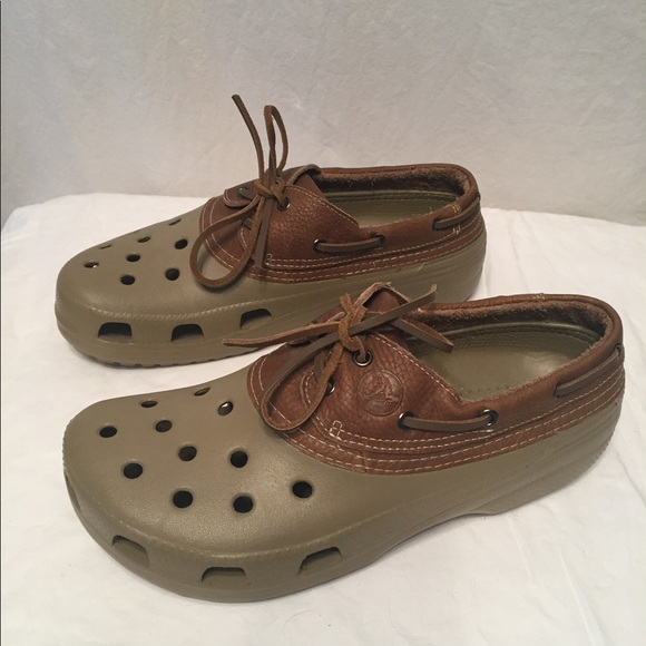 9dd6e97df00e12 CROCS Other - Awesome men s islander leather lace up crocs